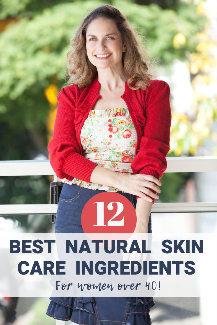 Natural skincare for women over 40. Caring for your skin as you age can be a challenge. We want to support our skin's health not cause more damage! Discover a collection of the best natural skincare anti-aging ingredients to care for your skin after 40! You'll be surprised that you can find most of these natural skincare products to up your natural skin care routine at your local grocery store!