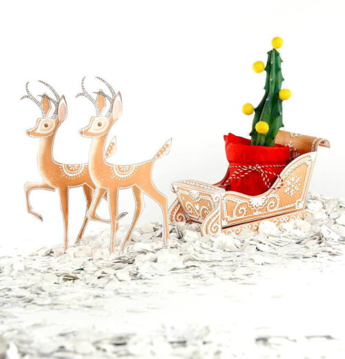 DIY Christmas decor and printable holiday gift box in one! A unique way to wrap your DIY Christmas gifts for friends and family. This DIY winter gingerbread sleigh holiday gift box from Wa Womb Printables functions not just as a unique way to wrap gifts, it also makes conversation worthy holiday home decor.
