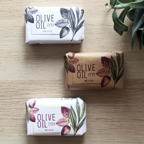 How to package homemade soap for sale. I love this all-in-one custom soap packaging like this custom soap packaging design from Andrea Tips that wraps and labels your soap all at one with just one product.