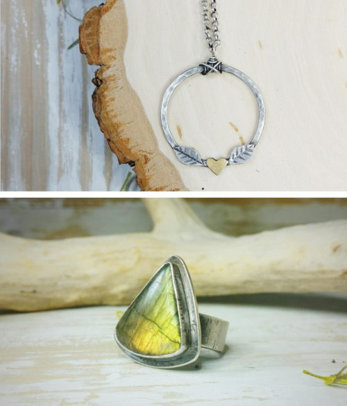 Show off your unique style with one-of-a-kind handcrafted jewelry from Unbound Elements. These beautiful rings, earrings and necklaces will always be in fashion and they make great handmade holiday gifts for her.