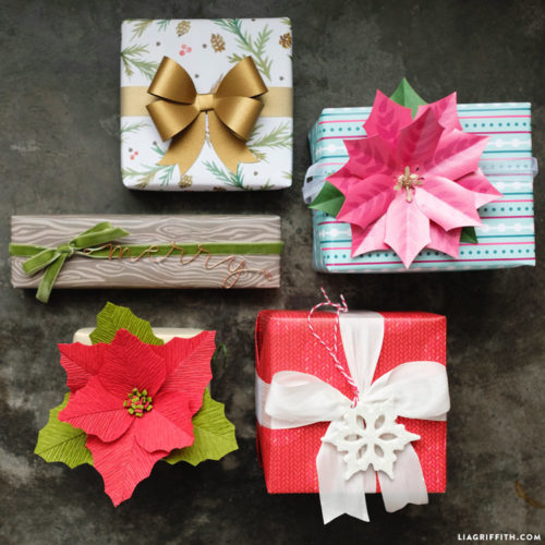 Easy ways to wrap gifts for the holidays with handmade gift toppers for your homemade Christmas gifts. Lia Griffith has a video tutorial that shows you not only how to create unique and beautiful gift toppers, it's also filled with easy gift wrapping tips and tricks. I love how easy her videos make it to explore new ways to wrap gifts without feeling intimidated to try something new!