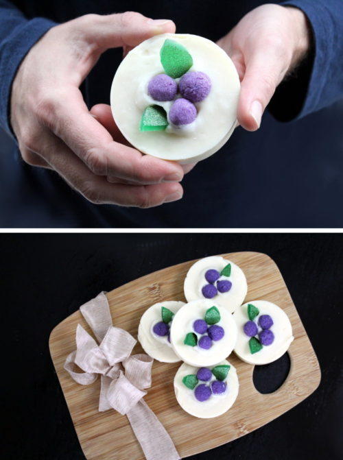 Best DIY Christmas gifts and ideas on Pinterest. Crafted with just four simple carrier oils, this lush homemade soap recipe is super moisturizing. The addition of a few simple soap embeds really make this soap pop. Handmade holiday gifts on Pinterest. How to make homemade soap gifts for the holiday. Easy stocking stuffer and DIY Christmas gift ideas.