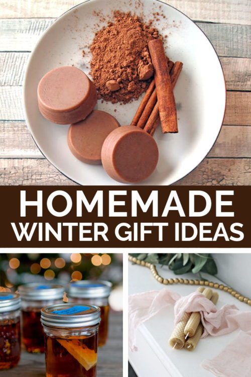 35 Homemade Winter Gifts for Your Holiday Gift List. Not all handmade gifts are created equal. So it can be hard hunting for homemade gift ideas that you know will truly be appreciated. To take some of the guesswork out your holiday gift list, I've put together a gift guide filled with homemade winter gifts. So whether you're crafting handmade gifts for a winter holiday, or making birthday or hostess gifts this collection of homemade winter gift ideas are perfect for everyone on your list!