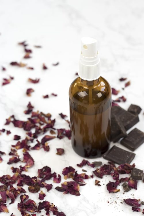 Chocolate & Roses DIY Room Spray. Your BFF will go gaga over this natural DIY room spray from A Life Adjacent for Galentine's Day! (And don't forget to make extra for yourself!) This chocolate and roses room spray captures the romantic scent of roses and chocolate - without any artificial scents. Your entire home will be filled with the delicious, fragrant aroma of dark chocolate and fresh roses.