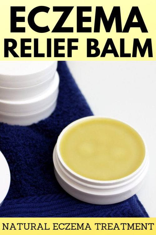 Natural Eczema Treatment for Real Relief from Eczema & Dry Skin. This natural eczema treatment knocks over-the-counter eczema creams out of the water. Formulated using only natural ingredients that offer relief of inflammation, itching and dryness, my natural eczema relief balm recipe offers real relief for your eczema or dry skin - with or without essential oils. Learn how to make an eczema repair balm recipe now an eczema remedy that really works! #eczematreatment