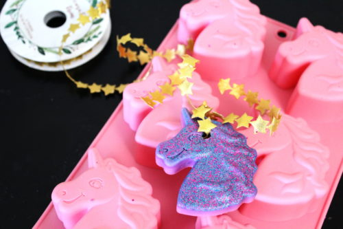 DIY Air Fresheners with Essential Oils - Unicorn Style! Remind your BFFs how magical they are with these unicorn air fresheners for Galentine's Day. Scented with natural essential oils, these unicorn wax air fresheners are perfect for musty closets or to use as drawer sachets. Or hang them in a sunny kitchen window. These DIY air fresheners are super easy to make. They're also the perfect reminder that we DO sparkle every single day! #airfresheners #unicorns #diy