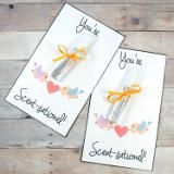 """Create custom scented mini perfume sprays to go along with these """"You're Scent-sational!"""" printable Valentines for your besties this Valentine's Day! With a few simple ingredients you can create your own custom scented perfumes for your best friends."""
