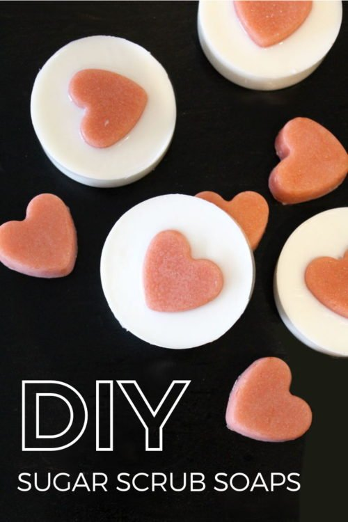 Easy melt and pour soap recipe with solid sugar scrub hearts. Save time in the shower and gently cleanse and exfoliate skin in one simple step with this easy melt and pour soap recipe for beginners. A lovely handmade gift idea for birthdays, anniversaries or holidays, this homemade soap recipe provides all the benefits of a traditional sugar scrub but without the oily residue. Learn how to make melt and pour soap now at Soap Deli News. Creative melt and pour soap making ideas for your next DIY.