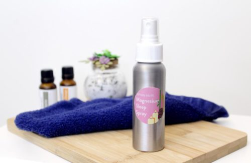 Magnesium Oil Sleep Spray Recipe with amyris essential oil. How to make a natural sleep aid using magnesium flakes and essential oils. This natural magnesium oil recipe also aids with stress relief, sore muscle recovery, improving circulation, headaches, joint pain, restless leg syndrome and cramps.
