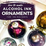 Alcohol ink ornaments are not only a beautiful way to decorate your Christmas tree or winter wreath, they're also incredibly quick and easy to make. Learn how to make your own DIY alcohol ink ornaments now at Soap Deli News blog!