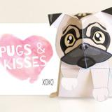 Need a last minute Valentine's day gift? This super cute paper craft from Kooee Papercraft is simply too cute to pass up! This pug is printable and easy to assemble. The pug comes with instructions for extra help with tips on folding. Play or story-tell with it and then just stick him or her up on a shelf as a decoration. Plus they will make a great ornament for a room or office. If you're a dog lover or just a super obsessed Pug fan then this is for you! Get the digital download now!