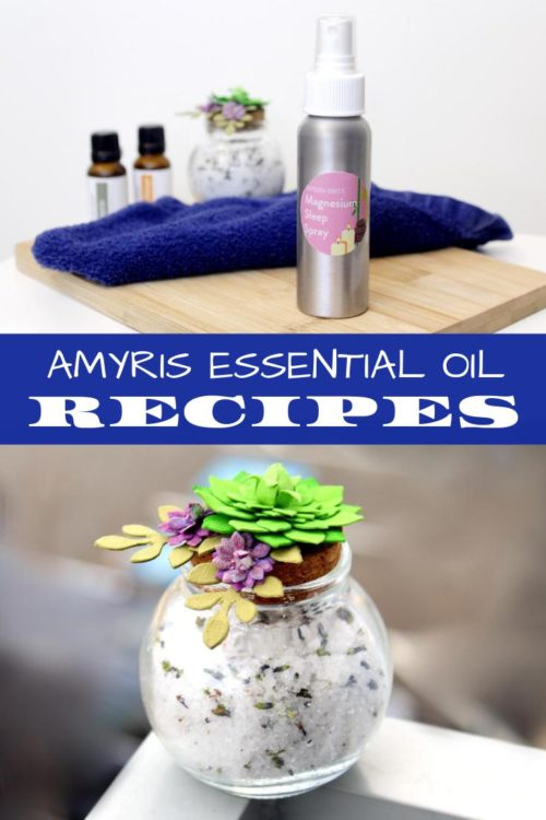 Amyris essential oil recipes from Simply Earth. Learn how to make a variety of health and wellness therapeutic essential oil recipes with amyris essential oil as well as the usage and benefits of amyris essential oil. Natural healthy living recipes for making a magnesium oil sleep spray recipe and a homemade detoxifying bath soak recipe for when you're sick or nauseous. Simple essential oil recipes with maximum benefits for health and natural skin care.