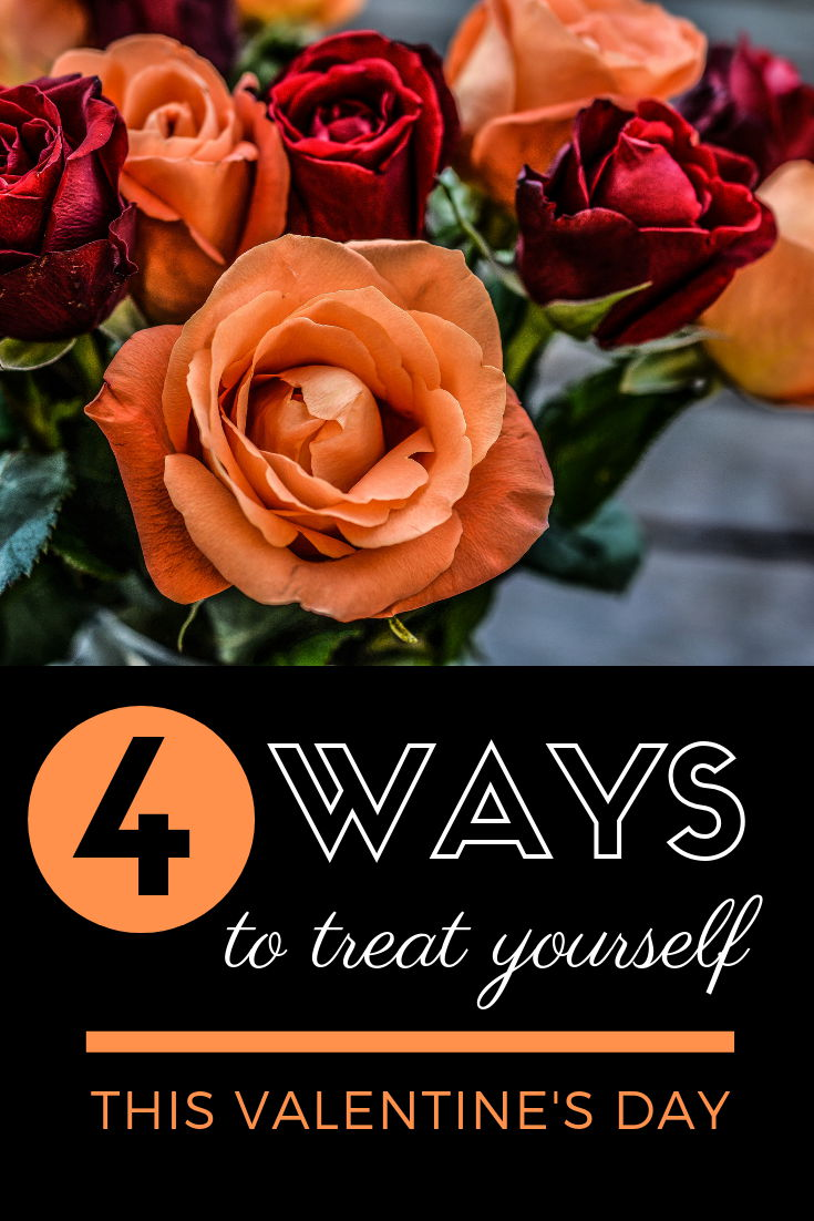 Treat yourself this Valentine's Day! When was the last time you spent money on you? As women, I think we're conditioned to look out for the needs of others first. So instead of buying something for someone else, why not treat yourself? Buy something that sparks your creativity. Make more time for yourself to do the things you love. Take care of your physical needs. Four unexpected ways to treat yourself for Valentine's Day - or any day! #treatyourself #selfcare #healthandwellness