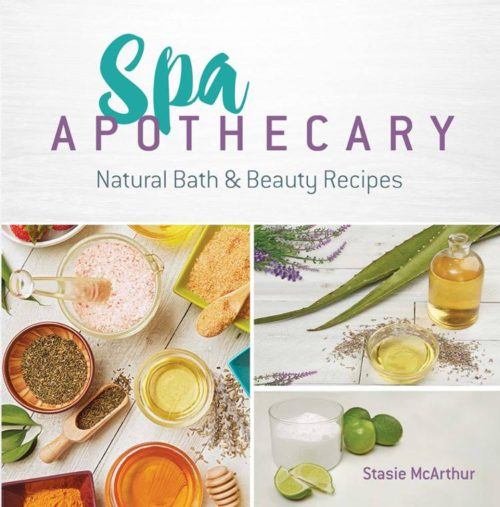Learn how to make homemade bath and beauty recipes with the book, Spa Apothecary: Natural Bath & Beauty Recipes. A natural skin care recipes book by Stasie McArthur, this book is the perfect introduction to making natural skin care products at home that save you time and money.