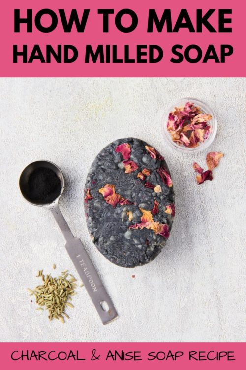 Making hand milled soap is an easy way to learn how to make soap for beginners. Learn how to make hand milled soap with an easy charcoal & anise soap recipe from Amanda Gail Aaron's book, The Complete Guide to Natural Soap Making. If you're looking for an easy way to learn how to make soap for beginners, then learn how to make hand milled soap. Making hand milled soap allows you to customize your natural soaps with ingredients that offer additional benefits for your skin type.
