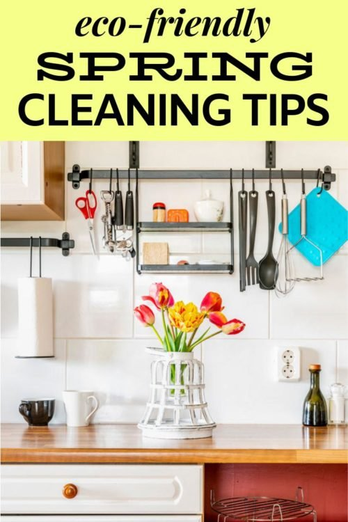 Spring Cleaning Tips for Your Eco-Friendly Lifestyle. Time to give your home an overhaul and clean everything and every room for the new spring season. It doesn't have to be daunting. Rather than tackling the taks all in one go, try these green spring cleaning tips over time instead! These eco-friendly spring cleaning tips will also save you both time and money. Discover the best spring cleaning tips for a non-toxic home now!