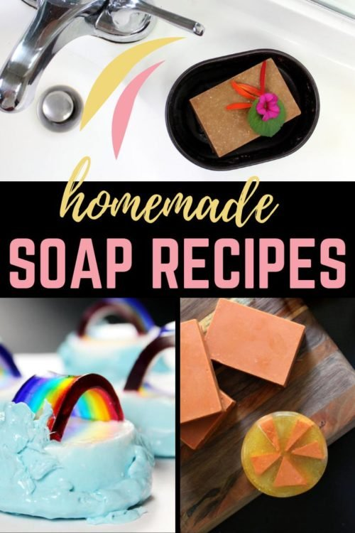 130+ homemade soap recipes to make for every skill level. Learn how to make a variety of homemade soaps for three different types of soap making - cold process soap making, melt and pour soap making and hand milled soap making. A huge collection of homemade soap recipes to make for your family, to gift to friends or to make and sell for extra money online, at your local farmers market, craft fairs or on Etsy.