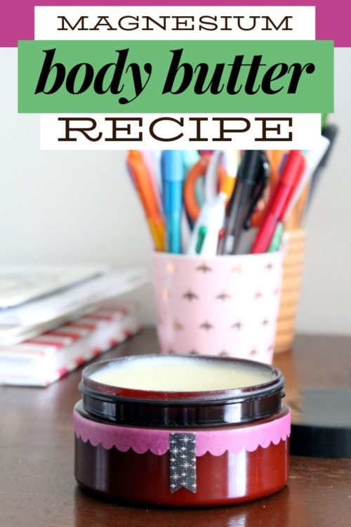 Magnesium Body Butter Recipe (A Natural Moisturizer & Home Remedy) Learn about the benefits of magnesium along with how magnesium body butter can offer relief from restless leg syndrome, nerve pain, sore muscles and more. A natural home remedy, this herbal balms and salves recipe is a natural alternative that provides vital minerals to your body for health and wellness without having to swallow a pill. The best natural magnesium body butter recipe for your natural skin care routine, this homemade skin care recipe is different from other magnesium body butter recipes you've seen on the internet. Learn the right way to make home remedies to assist with restful sleep, calm restless leg syndrome and ease sore muscles and nerve pain.