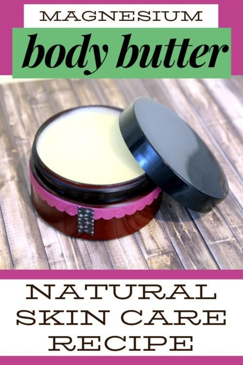 Magnesium body butter recipe. Magnesium body butter offers a number of natural health benefits. Not only does this luxurious body butter moisturize skin, it also aids in relaxation and can promote a restful night's sleep. Additionally, this mineral enhanced body butter also helps relieve muscle cramps, backaches, growing pains and restless leg syndrome. As someone living with fibromyalgia, I use magnesium body butter to naturally soothe nerve pain and to aid in relaxing muscles after a workout.