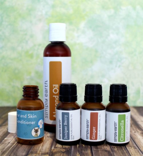 Fur & Skin Conditioner Recipe for Pets. Care for your pets skin and coat using essential oils with this simple natural pet care recipe. Plus learn about essential oils for pets, tips for safely using essential oils with your furry friends and five more natural essential oil pet care recipes.