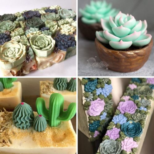 Cactus soaps for your summer desert themed bathroom decor.