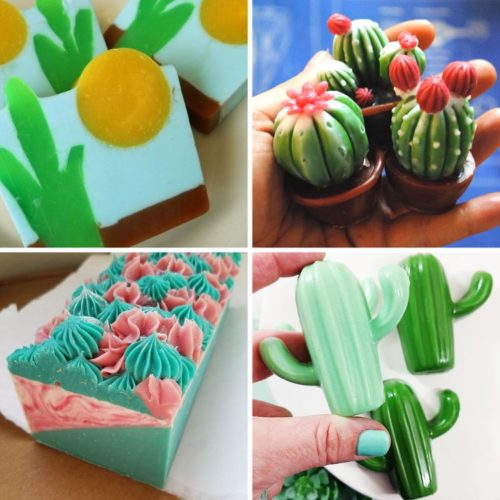 Artisan soaps for cactus lovers. Handmade soaps on Etsy. Creative cactus soaps for succulents lovers. If you love cacti, then check out these amazing artisan cactus soaps for handmade gifts or DIY inspiration.