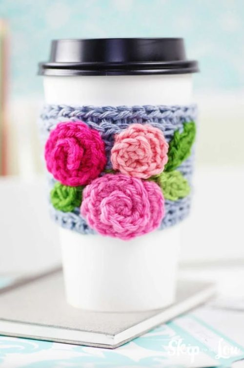 DIY Crochet Coffee Sleeve for Mother's Day. If your mom's like me then she loves that morning cup of coffee or tea! This crochet coffee cup sleeve from Skip to My Lou is so beautiful. Your mom will use it everyday for that early cup of java. Making it one of the best Mother's Day gifts you can DIY last minute.