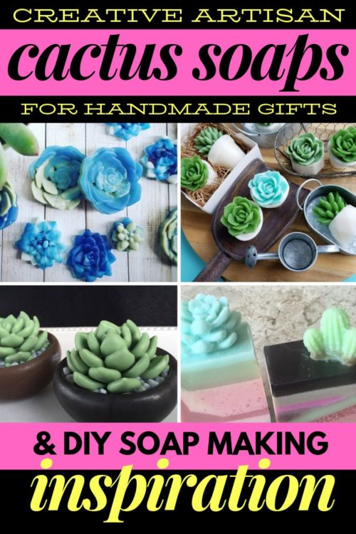 Creative Cactus Soaps to Buy or DIY. Buy them to add a touch of summer to your guest bathroom or to give as simple housewarming or hostess gifts. Or simply gather inspiration for crafting your own unique DIY cactus soaps at home.