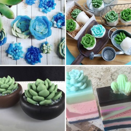 Beautiful handmade artisan succulent soaps on Etsy to buy for handmade gifts.