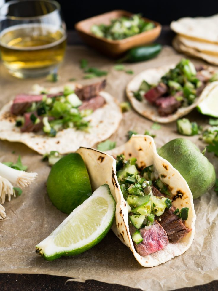 Flank Steak Tacos Recipe with Avocado Crema
