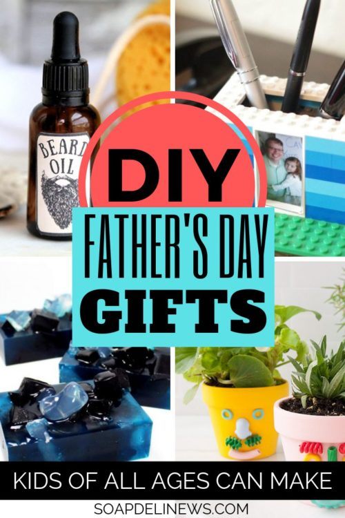 Father's Day gifts from kids. Give Dad the gift of handmade with gifts the kids can make themselves! These DIY Father's Day gifts from kids are perfect for just about any skill level!