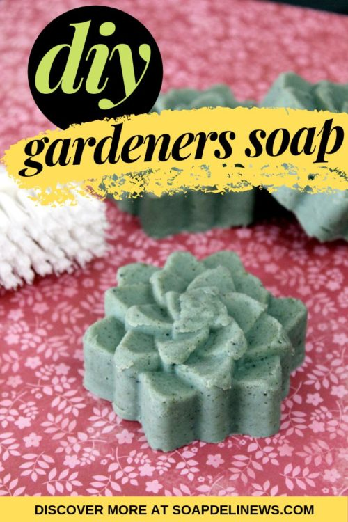 Gardeners soap recipe. This gardeners soap recipe is made with exfoliating botanicals and three nourishing body butters so it doesn't just get you clean, it also conditions skin! Learn how to make this DIY gardeners soap recipe now at Soap Deli News blog.