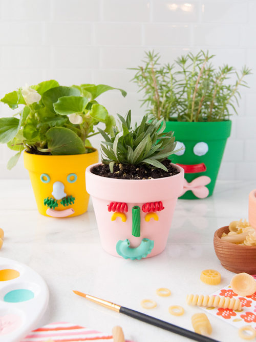 DIY Father's Day gift ideas from kids. These DIY pasta planters from Handmade Charlotte are another great Father's Day gift idea. The perfect gift from kids of all ages, these planters are not only easy to make, they're the perfect gift when paired with Dad's favorite herbs for his famous chili or pizza recipes.