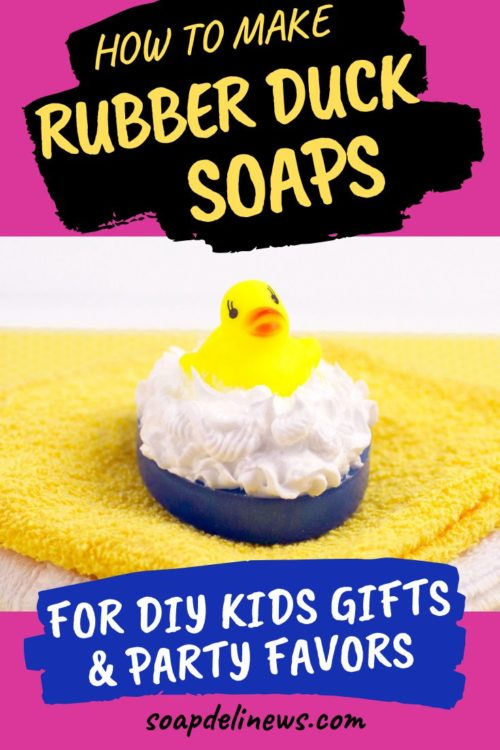 Rubber Ducky Soap Tutorial. Learn how to make fun DIY rubber ducky soaps for children's gifts or party favors with this easy rubber ducky soap tutorial. They're the perfect bath time treat for young fans of Sesame Street!
