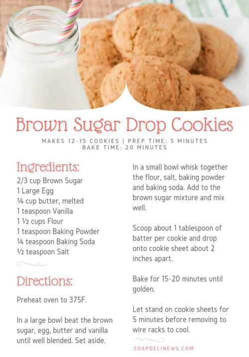Easy brown sugar drop cookies recipe. How to bake delicious brown sugar drop cookies for an after school snack or a weekend treat. These brown sugar cookies are easy to make and taste amazing.