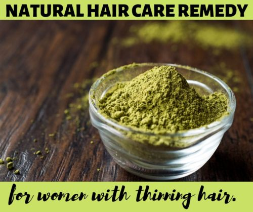 Hair thinning remedies for women. Need a solution for thinning hair? This natural remedy for thinning hair on females costs as little as $20 a year and gives you lush healthy looking hair! A natural vegan remedy for thinning hair on females, henna not only builds volume & thickens hair, it also increases strength, texture and shine!