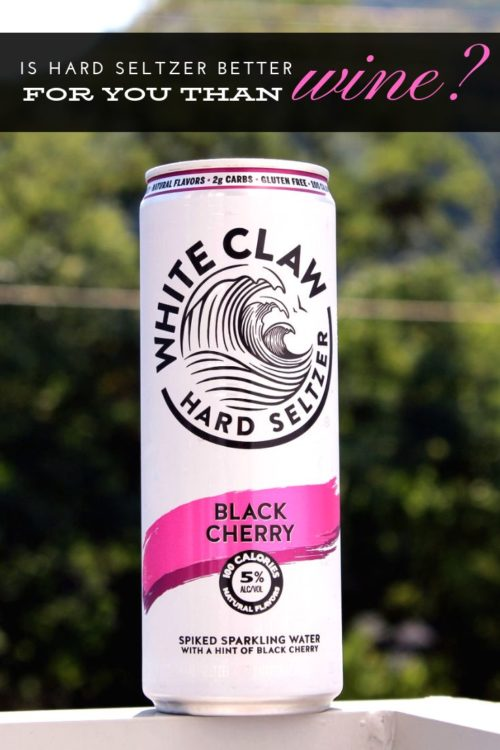Is hard seltzer better for you than wine? Hot summer days are all about rosé & wine slushies, but is there something better? Hard seltzer, like White Claw hard seltzer, offers fewer calories and just 5% alcohol. Not only does it taste like your favorite seltzer water (with no added sugar) it also helps you stay better hydrated - even in party mode.
