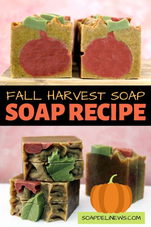 Beautiful autumn harvest artisan soaps to craft in your kitchen this fall.