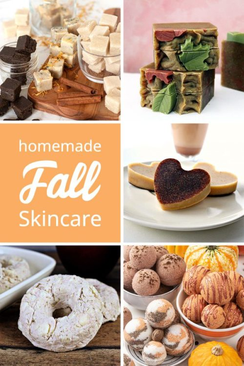 DIY beauty recipes for fall. Learn how to make fall inspired homemade skin care recipes for your daily skin care routine. Bring on the pumpkin spice and discover your favorite fall essential oil blends with beauty recipes for DIY solid sugar scrub cubes, rebatched apple pie spice soap, vanilla chai latte lotion bars & easy DIY pumpkin spice bath bombs from top bath and beauty bloggers.