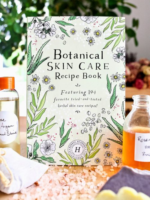 Botanical Skin Care Recipe Book. This informative DIY herbal skin care book is filled with 194 favorite tried and true herbal skin care recipes. Inside are recipes for pretty much everything you can imagine - eye shadows, toners, face masks, deodorant, foot scrubs and baths, body butters, facial serums, homemade soaps and more.