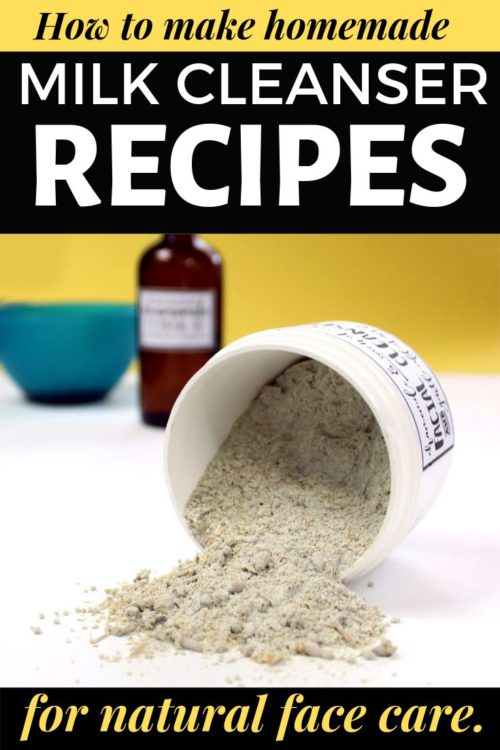 DIY Milk Cleansers. Gentle natural facial cleanser recipes for your natural skin care routine. Whether these homemade skin care recipes are made with goat milk, cow milk or even vegan coconut milk, these natural beauty recipes are the perfect choice for sensitive skin care of dry skin or eczema prone skin.