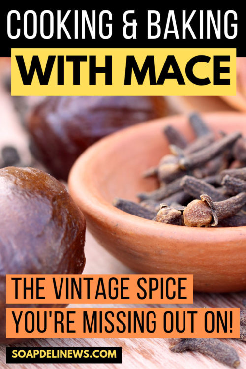 Cooking & Baking with the vintage spice, mace. Mace is closely related to nutmeg and is similar in both aroma and flavor. It is often used in teas and tinctures. And it also makes a great addition liberally to foods and baking recipes. Learn more about mace & discover food, dessert and drink recipes that call for mace as an ingredient.