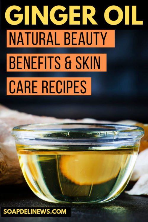 Ginger essential oil benefits for natural skin care & hair care. Ginger essential oil benefits make it a great oil to use in your natural beauty recipes. It can help protect the skin from signs of aging and naturally kills germs that can cause acne or other skin conditions. Ginger oil for hair can help reduce dandruff and lead to thicker hair over time.