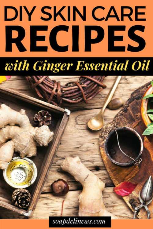 Ginger oil skin care recipes for natural beauty. Ginger essential oil offers a number of natural skin care and beauty benefits when used as an ingredient in your skin care formulations. Learn about all the ginger essential oil benefits for your skin! Plus discover a collection of my favorite natural skin care recipes made using ginger essential oil.
