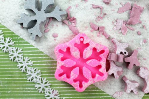 Plaster Christmas ornaments can't be made using intricate molds or Christmas ornament silicone molds with skinny lines as they break when removed.