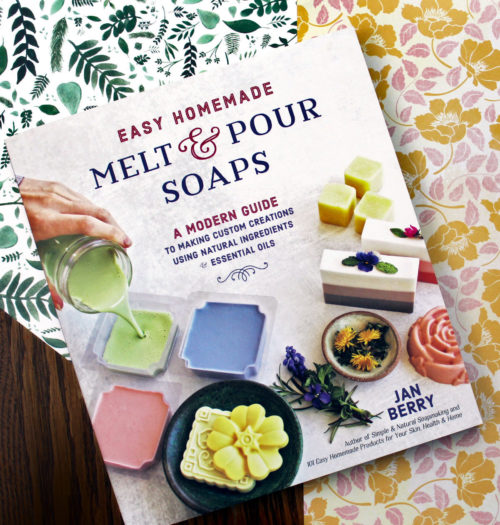 Are you a beginner soapmaker? Or do you simply want to learn how to start making homemade soaps using melt and pour soap bases? Then this is the perfect place to start your soapmaking journey! The new book, Easy Homemade Melt & Pour Soaps, by Jan Berry is a modern guide to navigating the world of soap crafting and learning how to create custom natural soaps using botanicals, essential oils, natural colorants and soap bases. The latest addition to Jan's collection of books, which also includes Simple Natural Soapmaking, this guide is the perfect way to learn how to make melt and pour soap recipes for beginners!