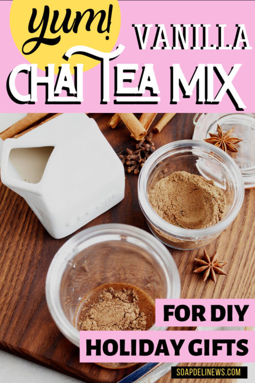 Vanilla Chai Tea Mix Recipe for Lattes: Make this easy DIY chai tea spice mix recipe for DIY holiday gifts. Spice things up this winter with a delicious vanilla chai latte recipe for a cozy winter treat. Or make an easy DIY vanilla chai tea mix for easy DIY holiday gifts for friends, family, teachers, neighbors and coworkers. The perfect homemade holiday gift for Christmas. Learn how to make DIY holiday food gifts now.