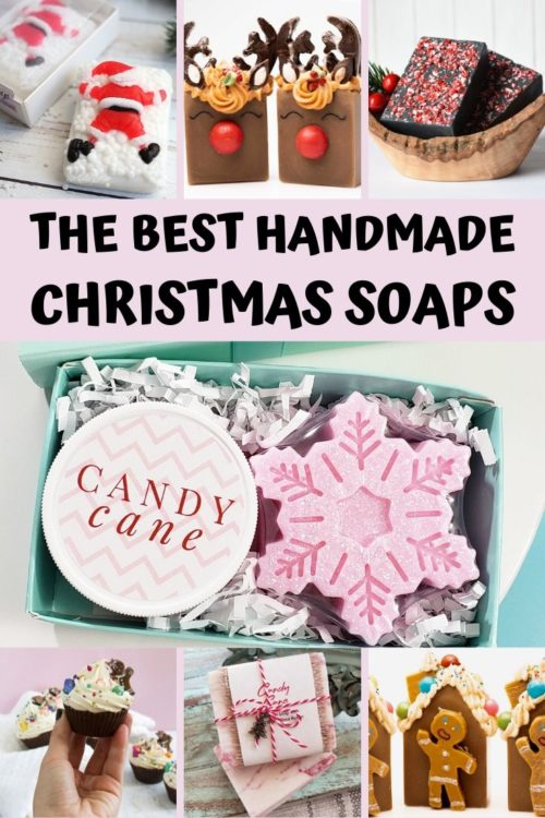 The best handmade soaps on Etsy to gift for the Christmas Holidays.