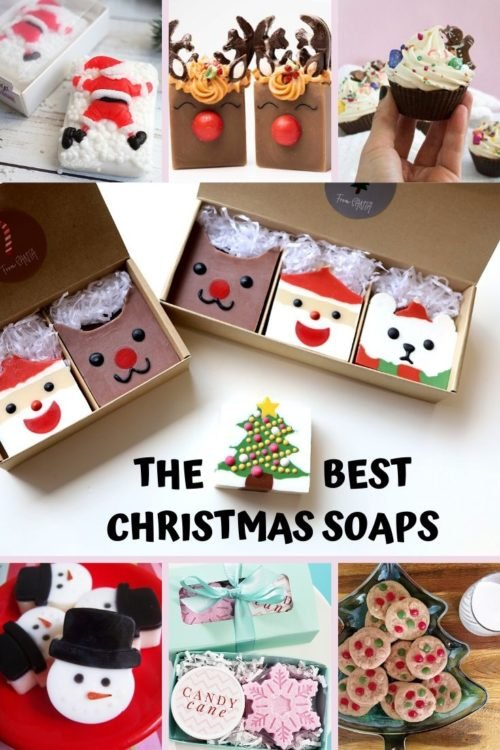Holiday Etsy Soap Christmas Round Up. The best artisan soaps to gift as handmade stocking stuffers for Christmas gifts.