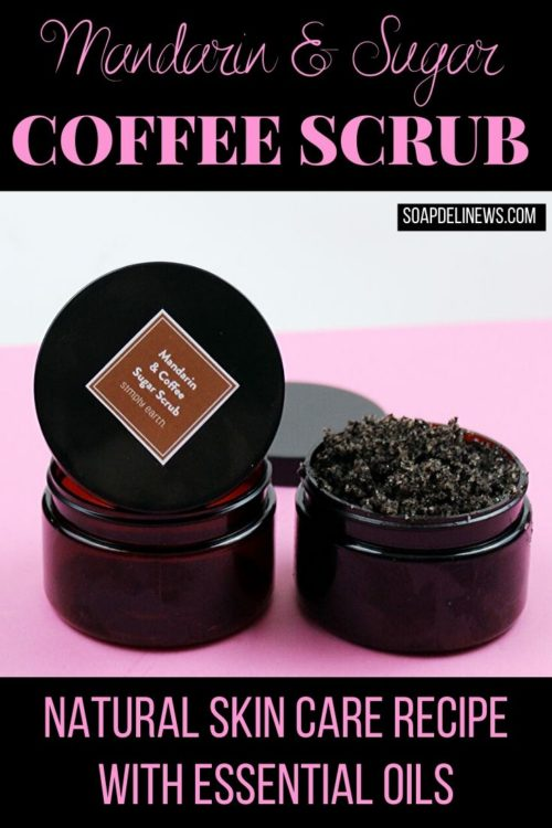 DIY Coffee Body Scrub with Mandarin Essential Oil for Winter Skin Care. Learn how to make a simple 5-ingredient DIY coffee body scrub for winter skin care. This easy, natural beauty recipe with mandarin essential oil will help you achieve the look of naturally glowing skin. It exfoliates away dead skin cells, hydrates skin and helps to tone for firmer looking skin. I love that the caffeine in the coffee helps to tighten and tone skin so it looks visibly firmer.